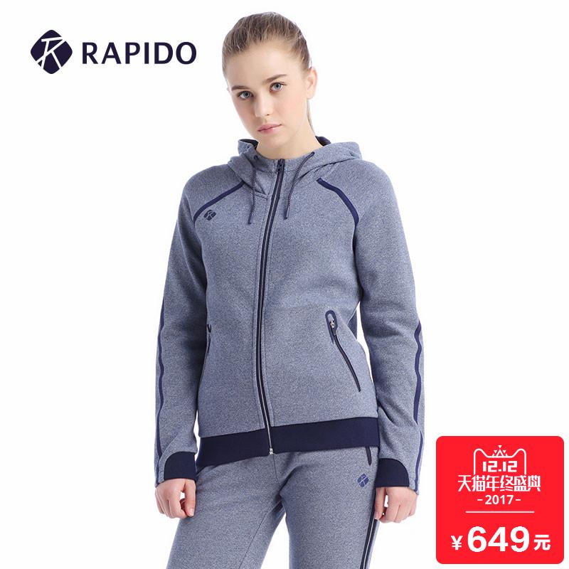 RAPIDO专柜同款 2017早秋新品女士韩版连帽运动休闲外套CP7776C04