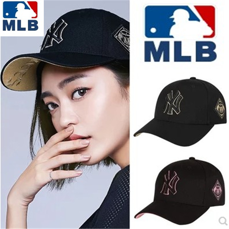 韩国正品MLB棒球帽洋基队男女鸭舌帽情侣夏季NY字母遮阳防晒帽子
