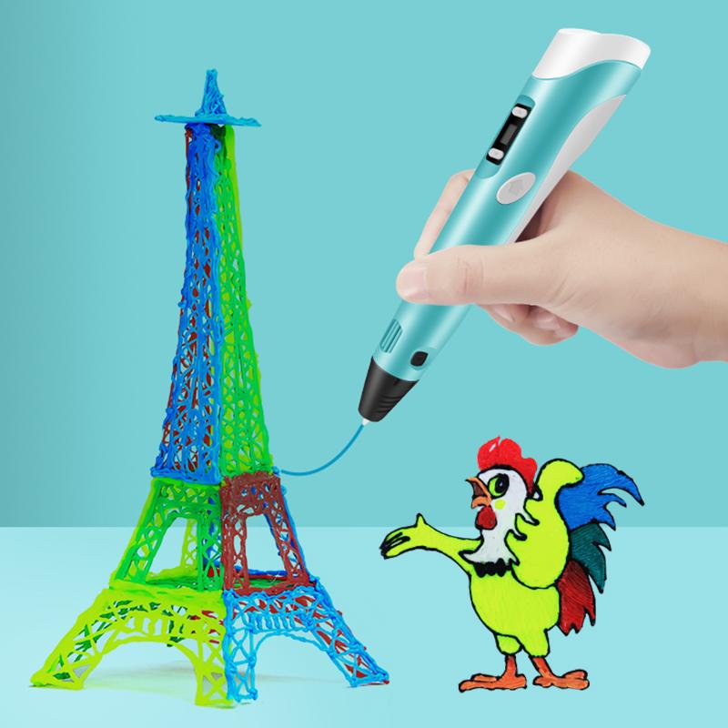 原装兰度新款学生3d打印笔智能涂鸦笔立体绘马良画笔神笔充三D地创意礼品电儿童男女中小学生生日礼物
