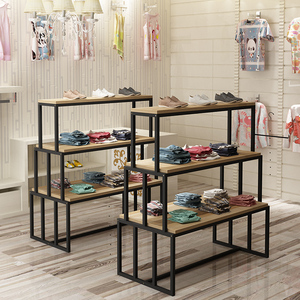 Shoe store shelves steel wood Nakashima cabinet shopping mall container shoe shelf display rack paint shoe rack shoe cabinet mother and baby display cabinet