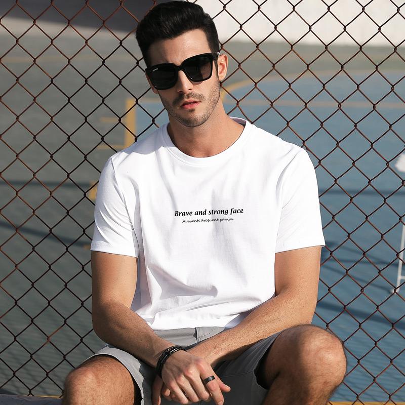 男士短袖t恤2019新款夏季纯棉男生潮牌潮流体恤半袖上衣百搭夏装优惠券