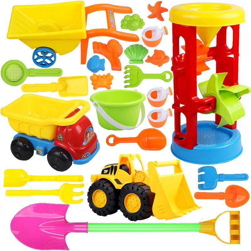 儿童沙滩玩具套装车大号铲子宝宝玩沙套装沙漏沙桶玩沙工具包邮