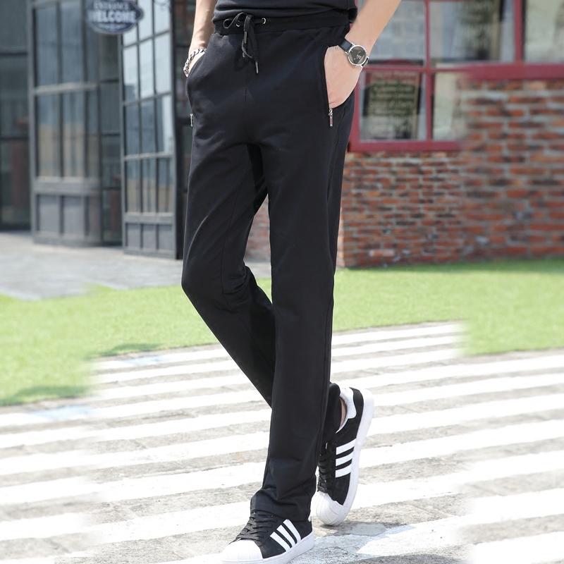 2019新款男士运动裤男春季长裤子秋冬款加绒直筒宽松休闲纯棉卫裤