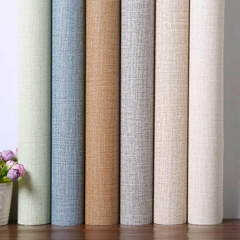 自粘纯色温馨卧室墙纸宿舍防水加厚PVC墙贴纸客厅素色3d装饰壁纸
