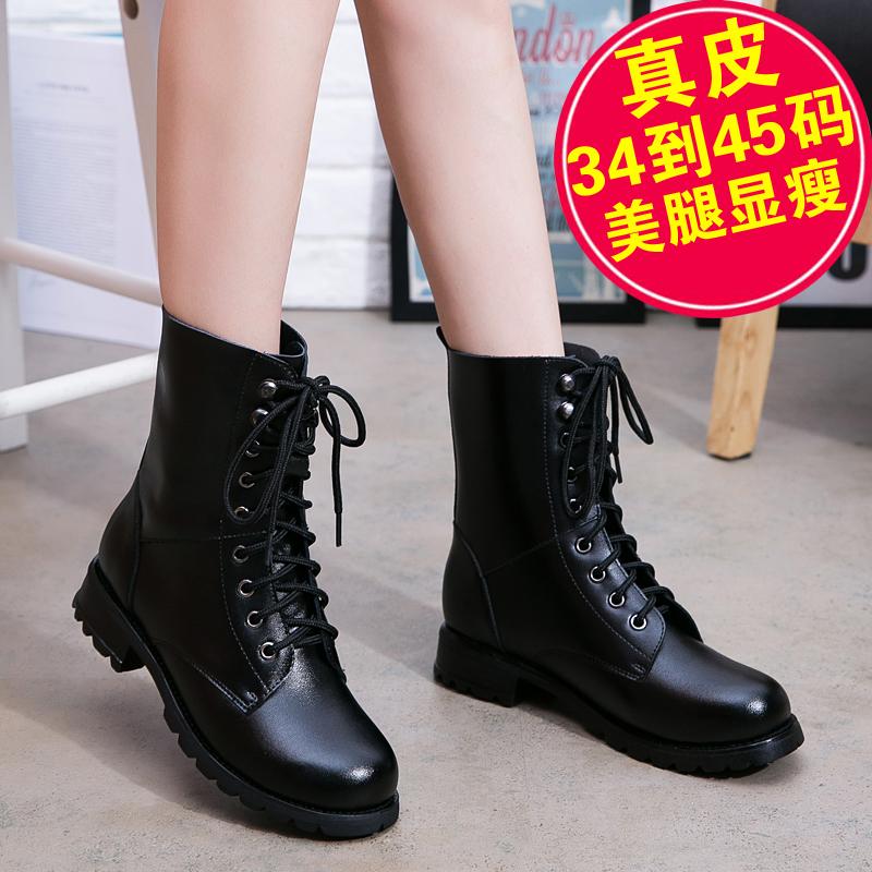2020秋冬季单靴新款ann马丁靴女潮ins短靴黑色英伦风加绒棉鞋靴子