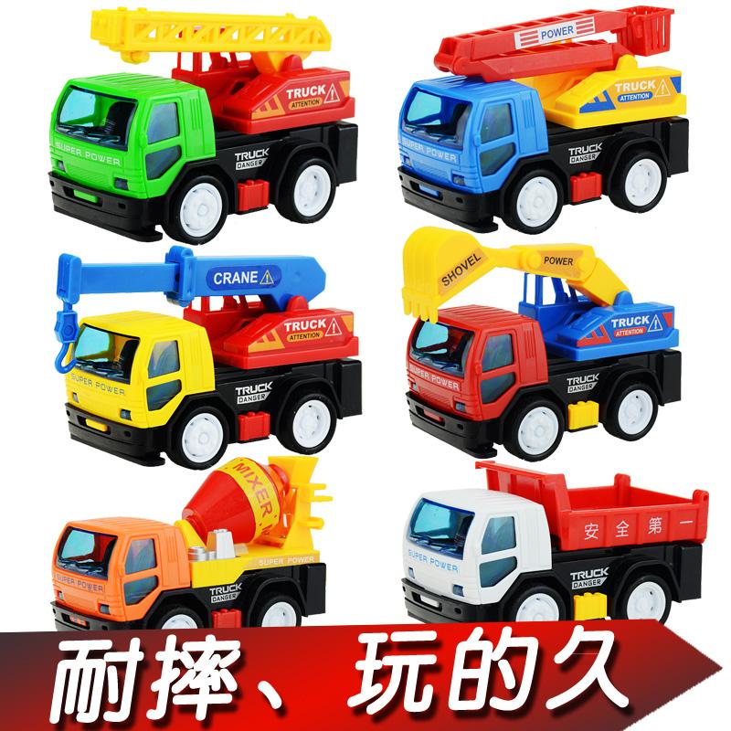 儿童玩具车宝宝小汽车 挖掘机挖土机消防车男孩工程车套装1-2-3岁