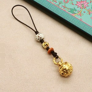 Creative personality Chinese style mobile phone chain pendant small bell ancient style pendant cute female men bag trailer hanging key hanging
