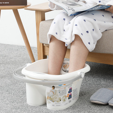 日本进口足浴桶ju4浴盆加高ne脚桶冬季家用洗脚盆塑料