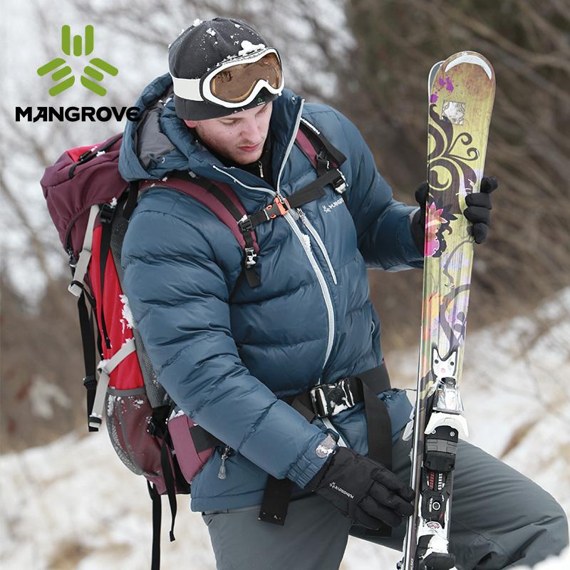 曼哥夫户外羽绒服男90%鹅绒加厚防风防泼水滑雪登山羽绒服女连帽