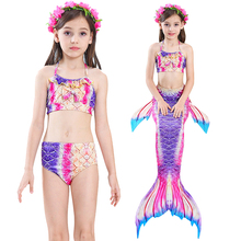 Children Mermaid Tail Swimming Dress Cute Skirt Children Princess Swimming Dress Little Girl Bikini Suit