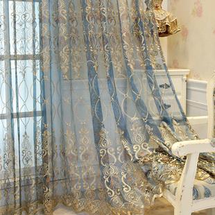 欧式简约现代刺绣客厅卧室窗纱帘