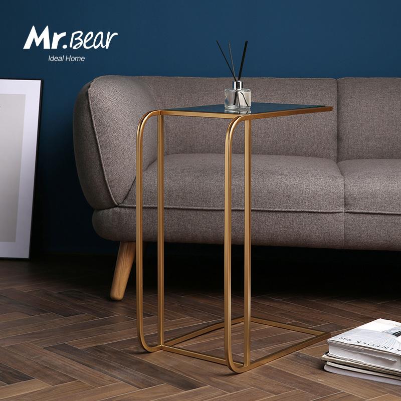 北欧铁艺小户型现代简约沙发边角几可移动边桌边几创意置物小茶几