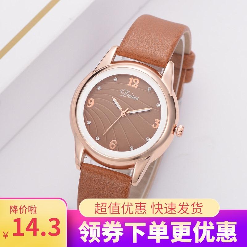 时尚爆款商务女款手表 韩版复古流行简约石英表品牌潮流时装表