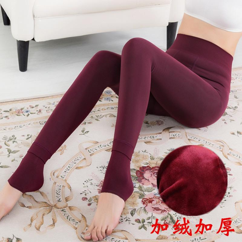 【天天特价】珍珠绒保暖九分裤踩脚女打底裤加绒加厚外穿一体裤