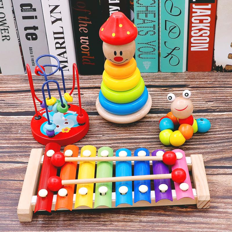 婴幼儿童彩虹塔套圈圈叠叠乐益智力玩具0-1-2周岁3男孩女宝宝早教