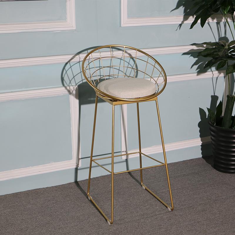 吧台椅现代简约北欧凳子金色高脚椅子时尚创意家[淘宝集市]