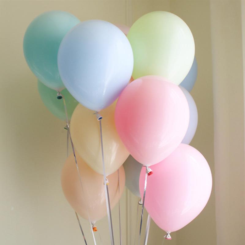 国庆节 网红马卡龙气球结婚礼生日浪漫教室装饰店庆场景布置用品