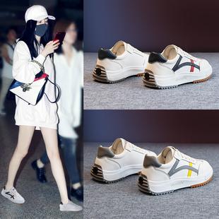 小白鞋2020新款女鞋秋季鞋子ins潮学生百搭白鞋平底运动休闲板鞋图片