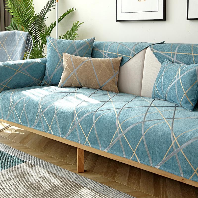点击查看商品:北欧雪尼尔沙发垫四季通用巾防滑垫子萬能简约沙发套罩加厚全盖布