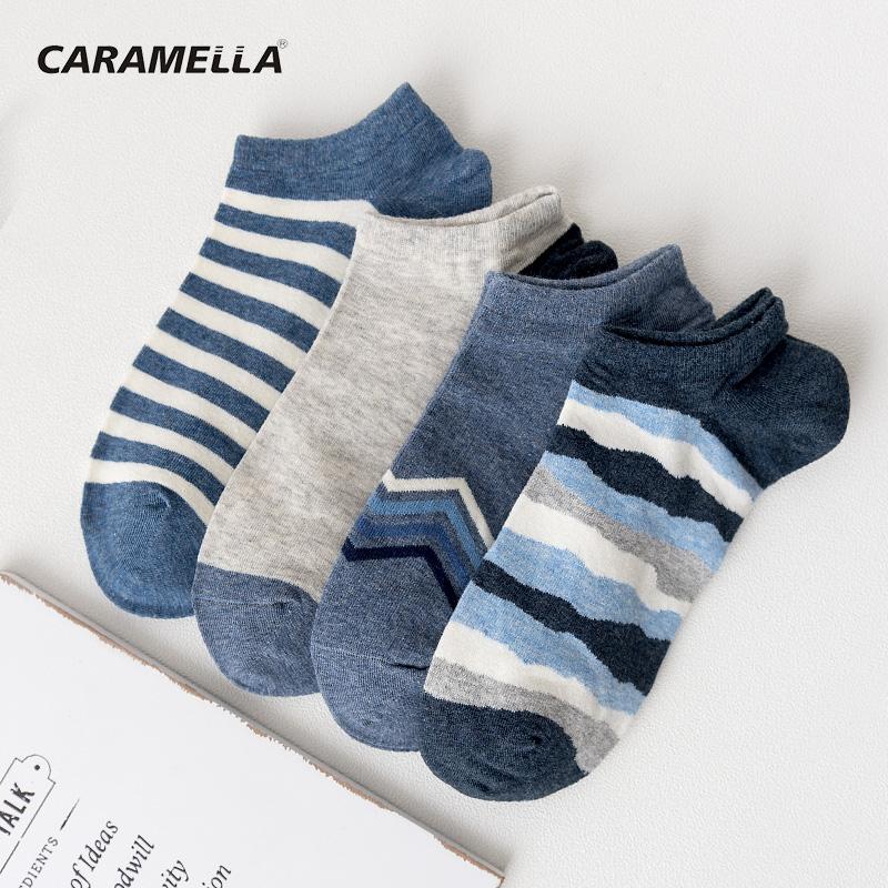 caramella隐形船袜子男短袜浅口运动棉夏季潮流薄款防臭学生袜子