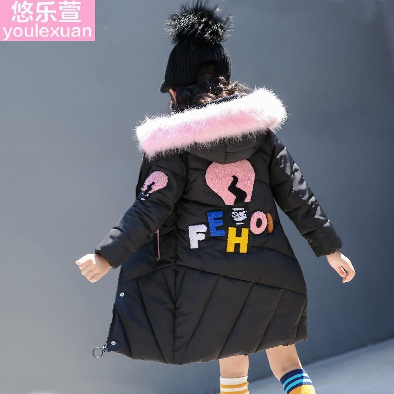 女童棉袄2017洋气冬装棉衣外套新款韩版潮公主羽绒棉12中大童15岁