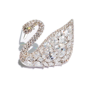 Valentine's Day Gifts Ode 2 Song Xiaoyi Corsage Korean Crystal Swan Brooch Female Temperament Pin Accessories