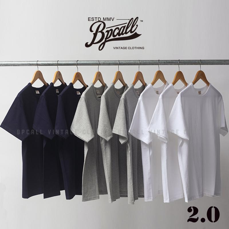 BPCALL VINTAGE 阿美咔叽 纯色打底短袖T恤