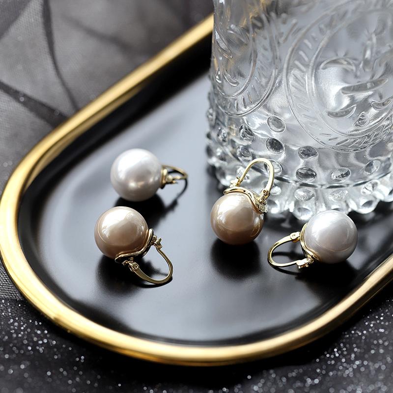 大乐良品法式巴洛克耳环大珍珠宫廷风复古欧美个性夸张高级感耳钉