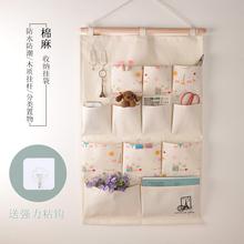 天天特价棉麻yo3艺收纳挂ng号储物袋多层挂墙置物袋门后壁挂
