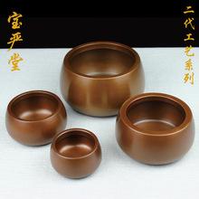 紫铜熏香钵炉茶ab4斑铜炉纯up内香熏炉檀香线香铜炉盘香香炉