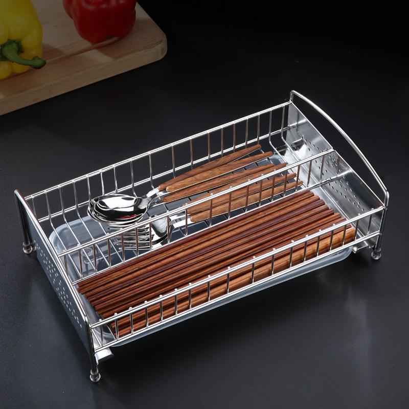 消毒柜筷子收纳盒不锈钢家用厨房装放快子勺子的盒子篓平放沥水架