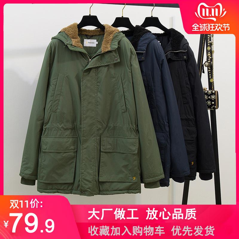 冬季棉服中长款工装棉衣外套男士加厚军绿色棉袄大衣宽松大码保暖