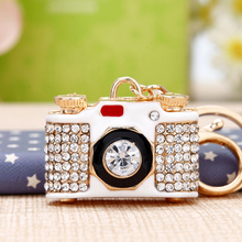 韩国创意礼品可爱水钻照相机汽km11钥匙扣xx钥匙链饰品生日