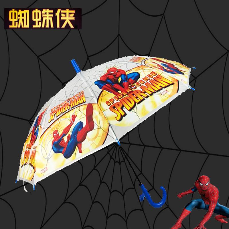 男女童宝宝幼儿园宝宝半自动蜘蛛侠儿童小孩学生迷你雨伞带口哨图片