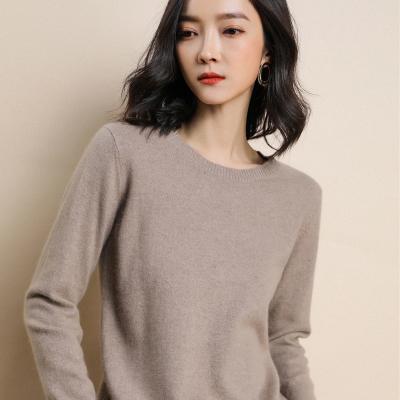 2019春秋新款圆领女韩版套头宽松短薄款外穿打底针织羊毛衣
