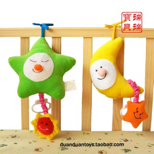 Baby cloth music bell ring music box bed hanging export baby toys to promote visual hearing and hands-on ability
