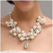 New Bridal Accessories Bridal Accessories Necklace Earring Pearl Necklace diamond products-