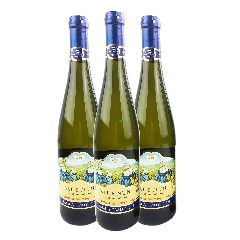 新包装750ml*6支价德国进口蓝仙姑优质干白半甜白葡萄酒 多省包邮