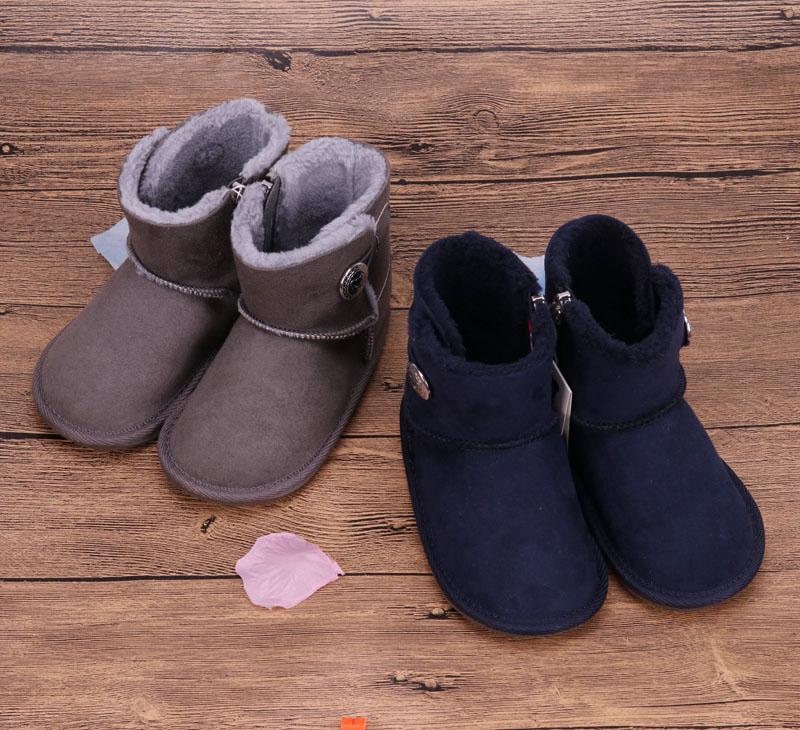 国内现货 mikihouse雪地靴男女宝宝加厚加绒棉靴防滑保暖鞋 包邮