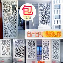 花格隔斷裝飾鏤空雕花密度板客廳玄關隔斷屏風牆實木花格鏤空中式