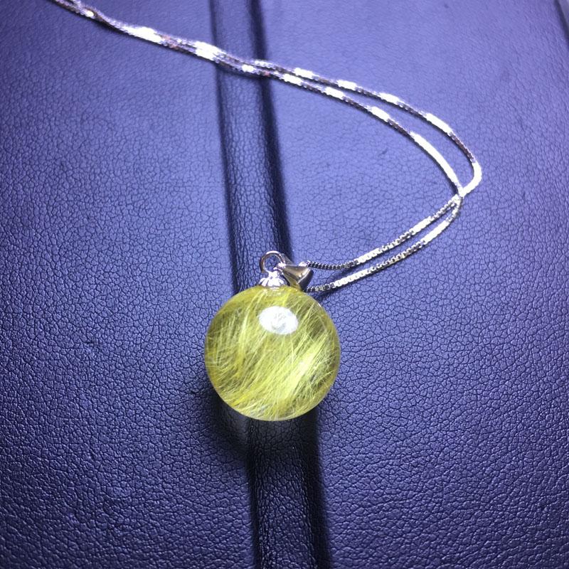 巴西天然发晶钛晶转运珠项链 发晶球吊坠 招财转运情侣男女饰品礼