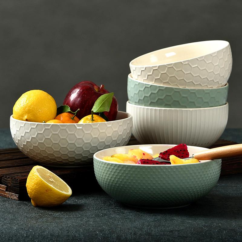 包邮欧式家用碗陶瓷餐具创意汤碗学生大碗米饭碗日式方便面泡面碗
