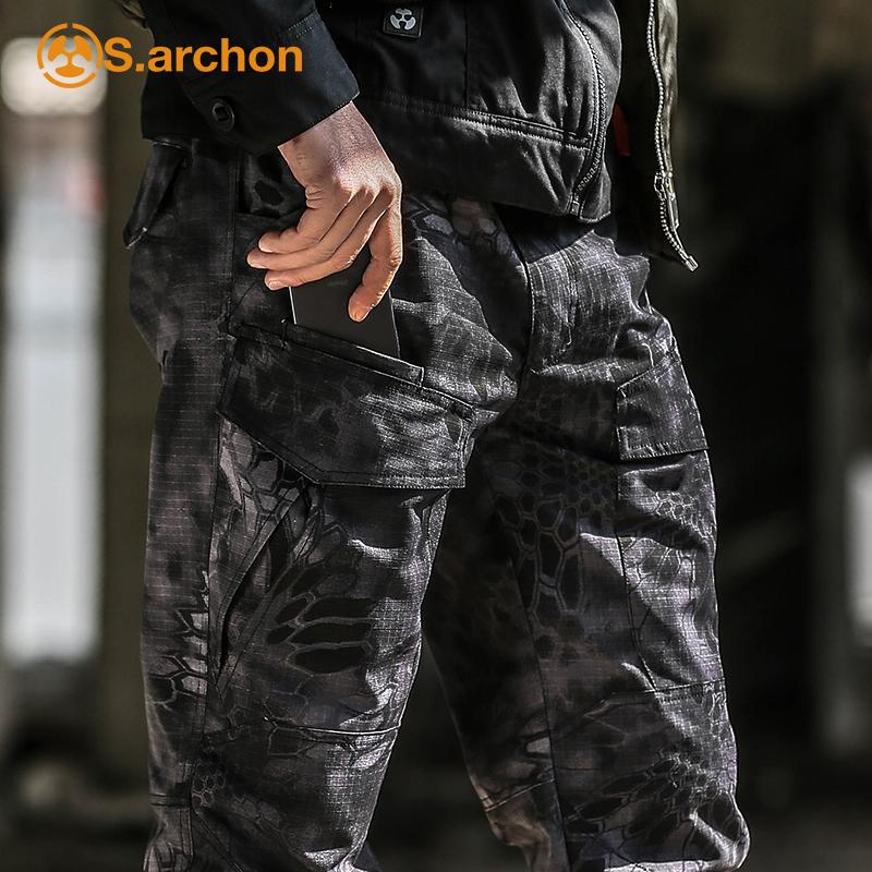 春秋战术长裤男军迷彩裤耐磨防水特种兵作训裤多口袋户外工装裤子