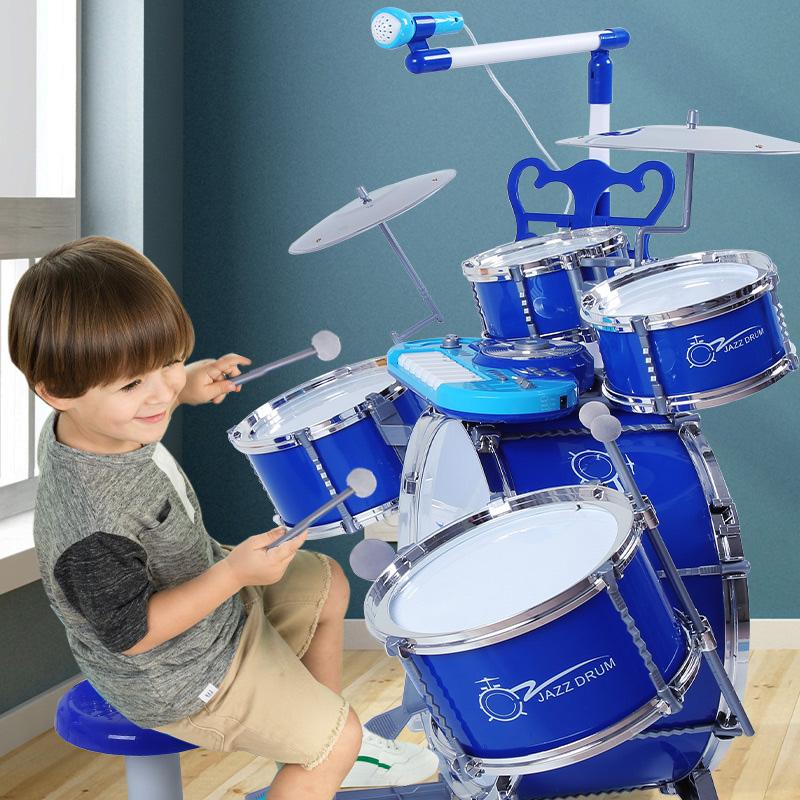 宝丽专业架子鼓儿童初学者爵士鼓电子敲打鼓乐器玩具男孩练手礼物