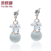 Ya na authentic exquisite heart-shaped rhinestone-Stud Earrings earrings jewelry Y167