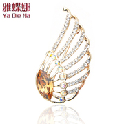 Ya na wing brooch, Korean professional pin brooch pin clasp zircon FJ15