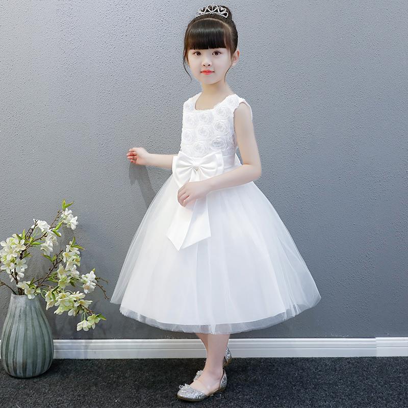 女童公主裙夏装2018新款花童礼服女蓬蓬裙儿童连