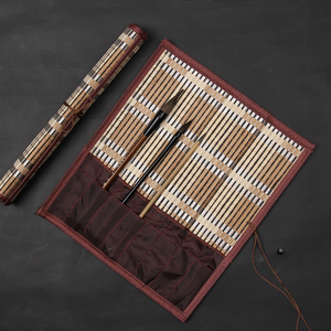 Brush pen curtain with pocket medium large study supplies calligraphy supplies painting tools painting materials placed brush