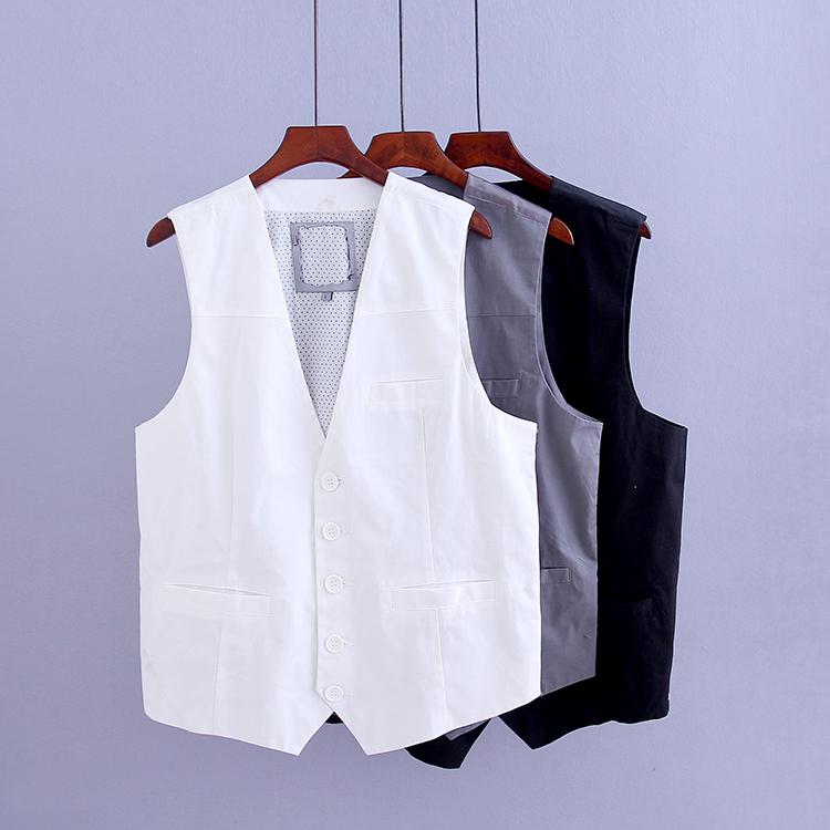 男士英伦西装马甲秋季新款百搭修身纯色背心休闲韩版西服马夹外套