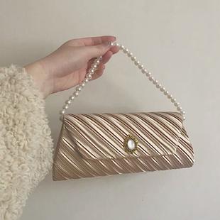 vintage复古包包古董包带钻小包手拿手提链条斜挎单肩2019新款bag图片
